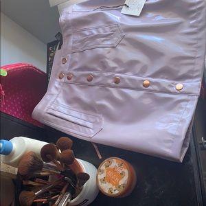 Mini Leather Skirt .